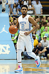 30 January 2016: North Carolina's Joel Berry II. The University of North Carolina Tar Heels hosted the Boston College Eagles at the Dean E. Smith Center in Chapel Hill, North Carolina in a 2015-16 NCAA Division I Men's Basketball game. UNC won the game 89-62.