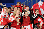 Team Canada fans cheer on their team during sledge hockey game action at UBC Thunderbird Arena in Vancouver. Credit: CPC/HC/Matthew Manor.