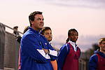 05 October 2015: Hofstra assistant coach Gary Book. The Duke University Blue Devils hosted the Hofstra University Pride at Koskinen Stadium in Durham, NC in a 2015 NCAA Division I Men's Soccer match. Duke won the game 3-2 in overtime.
