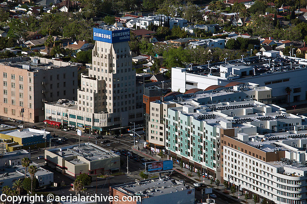 aerial photograph Wilshire La Brea, Los Angeles, California
