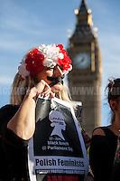 """03.10.2016 - """"Polish Women On Strike! Black Lunch In London"""""""