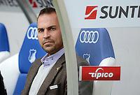 FUSSBALL  1. BUNDESLIGA  SAISON 2012/2013  2. SPIELTAG    01.09.2012 TSG 1899 Hoffenheim  - Eintracht Frankfurt Trainer Markus Babbel (TSG 1899 Hoffenheim) nachdenklich