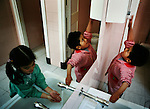Two children wash their hands before lunch at Uribarri public school. I visited Uribarri Public School in Bilbao to see how the children of new migrants to Bilbao were settling in with their Spanish classmates. Nowhere is a community&rsquo;s diversity reflected more strongly than in a school.