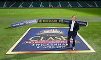 """Bath Rugby Managing Director Tarquin McDonald. Bath Rugby Photocall for """"The Clash"""" on September 22, 2016 at Twickenham Stadium in London, England. Photo by: Andrew Fosker / Onside Images"""