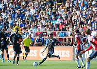 Santa Clara, Ca - Sunday, May 13, 2012: San Jose Earthquakes and Chivas USA tie 1-1, at Buck Shaw Stadium during a regular season match.