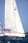 Seabiscuit, class 15, sailing at the start of the Newport Bermuda Race 2010. The race started in Newport, Rhode Island on June 18, 2010.