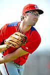 24 February 2012: Washington Nationals' pitcher Matt Purke warms up at the Carl Barger Baseball Complex in Viera, Florida. Mandatory Credit: Ed Wolfstein Photo