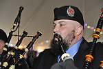 Fund raiser for firefighter Ray Pfeifer on Saturday, March 31, 2012, at East Meadow Firefighters Benevolent Hall, New York, USA. Tim McMaster (right) played with Boston Gaelic Fire Brigade Pipes and Drums band.