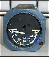 BNPS.co.uk (01202 558833)<br /> Pic: ChaucerAuctions/BNPS<br /> <br /> ***Please Use Full Byline***<br /> <br /> FYI: The Concorde Oil Pressure Gauge.  Located on the Flight Engineer's Panel the Concorde 'Oil Pressure Gauge' shows the pressure in the engine oil system. <br /> <br /> Legendary airline pilot Mike Bannister is selling 100,000 pounds worth of his Concorde memorabilia so he can fund his daughter through flying school.<br /> <br /> Amy Bannister, 20, is hoping to following in her father's jet-stream to become a commercial airline pilot and is currently at a flight training school in Spain.<br /> <br /> The prestigious course is costing her a six figure sum.<br /> <br /> Her father Mike, 65, didn't want her burdened with debt at the start of her career and so stripped his study of Concorde relics, including cockpit instruments, and has put them up for sale at auction.