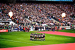 The All blacks rugby team at Twickenham,England. An amazing match with 82,000 fans in attendance.