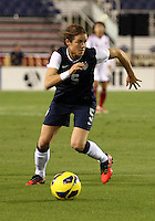 BOCA RATON, FL - DECEMBER 15, 2012: Kelley O'Hara (5) of the USA WNT during an international friendly match match against China at FAU Stadium, in Boca Raton, Florida, on Saturday, December 15, 2012. USA won 4-1.