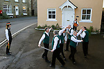 Longsword Sword Dance team. Kirkby Malzeard. Yorkshire, UK. Performed on Boxing Day December 26th 2008.