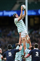 Ian Nagle of Cambridge University wins the ball at a lineout. The Varsity Match between Oxford University and Cambridge University on December 10, 2015 at Twickenham Stadium in London, England. Photo by: Patrick Khachfe / Onside Images