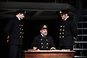 TITANIC opens at Charing Cross Theatre. Directed by Thom Southerland and produced by Danielle Tarento. Picture shows: Scott Cripps (Murdoch), Philip Rham (Captain Edwards), Alistair Barron (Lightoller).