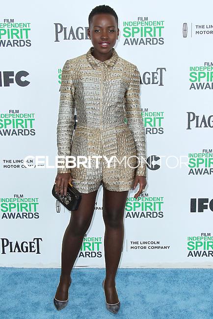 SANTA MONICA, CA, USA - MARCH 01: Lupita Nyong'o at the 2014 Film Independent Spirit Awards held at Santa Monica Beach on March 1, 2014 in Santa Monica, California, United States. (Photo by Xavier Collin/Celebrity Monitor)