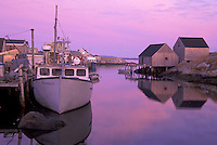 Fishing boat and shacks on Peggy's Cove, Peggy's Cove, Nova Scotia, Canada