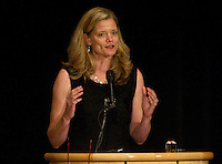 Trisha Stevens Lamb during her speech at Stanford Athletics Hall of Fame, event on November 11, 2011, at the Alumni Center.  ( Norbert von der Groeben )