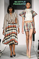 Models walk runway in an outfits from the SMARTER Clothing Fall 2012 collection, by Bridgett Artise, during BK Fashion Weekend Fall Winter 2012.
