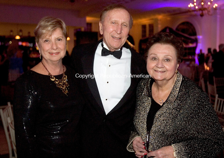 SOUTHINGTON CT. 07 February 2015-020715SV14-Ada Anthony her husband Bob Anthony of Cheshire, and Jaci Carroll of Waterbury attend the One Thousand and One Nights Saint Mary's Hospital Foundation Gala 2015 at the Aqua Turf in Southington Saturday. <br /> Steven Valenti Republican-American