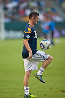 CARSON, CA – August 20, 2011: LA Galaxy forward David Keane (14) during the match between LA Galaxy and San Jose Earthquakes at the Home Depot Center in Carson, California. Final score LA Galaxy 2, San Jose Earthquakes 0.