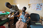 At the Presbyterian Church-sponsored Ekwendeni Hospital in northern Malawi, a woman gets a blood test for HIV.