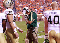 Sept. 3, 2011 - Charlottesville, Virginia - USA; William & Mary Tribe head coach during an NCAA football game against William & Mary at Scott Stadium. Virginia won 40-3. (Credit Image: © Andrew Shurtleff