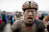 Stephen Hyde's (USA/Cannondale) post-race mudface<br /> <br /> Elite Men's Race<br /> UCI 2017 Cyclocross World Championships<br /> <br /> january 2017, Bieles/Luxemburg