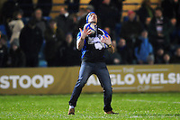 Half-time catching challenge. Anglo-Welsh Cup match, between Bath Rugby and Gloucester Rugby on January 27, 2017 at the Recreation Ground in Bath, England. Photo by: Patrick Khachfe / Onside Images