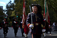 People take part during the Annual Columbus Day Parade in New York,  October 14, 2013, Photo by Kena Betancur / VIEWpress.