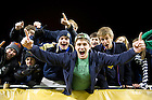 Oct. 6, 2012; Notre Dame students cheer during the second half against Miami of the Shamrock Series at Soldier Field in Chicago. Photo by Barbara Johnston/University of Notre Dame..
