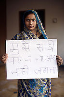 Sheela - 23 yrs.Gujarat.Hindu.House Maid.Hindi - 'I do not like wearing the sari'.