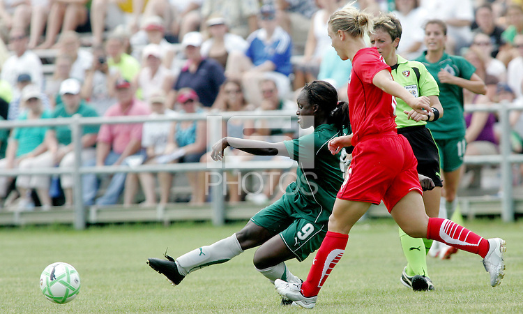 Eniola Aluko..Saint Louis Athletica were defeated 1-0 by Washington Freedom at Anheuser-Busch Soccer Park in Fenton, Missouri.