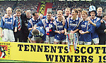 Rangers winning team with the Scottish Cup in 1996