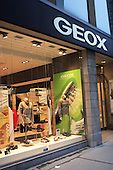 GEOX clothing boutique along Ste-Catherine street in downtown Montreal, Quebec