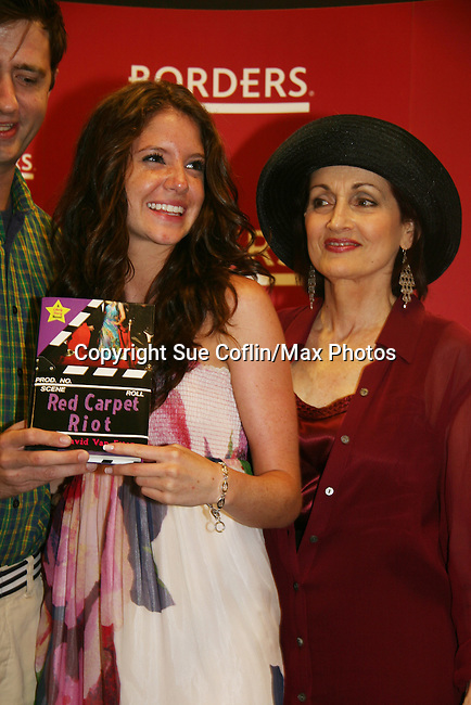 """Robin Strasser and Brittany Underwood will be reading passages Red Carpet Riot by """"David Van Etten"""" who is actually three writters: Emmy-winning OLTL scribe Chris Van Etten and his friends David Levithan and David Ozanich on August 15, 2009 at Borders, Time Warner Center Mall, New York City, New York. (Photo by Sue Coflin/Max Photos)"""