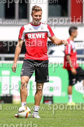 16.07.2015, Geissbockheim, Koeln, GER, 1. FBL, 1. FC Koeln, Training, im Bild Yannick Gerhardt (1. FC Koeln #31) // during a practice session of German Bundesliga Club 1. FC Cologne at the Geissbockheim in Koeln, Germany on 2015/07/16. EXPA Pictures &copy; 2015, PhotoCredit: EXPA/ Eibner-Pressefoto/ Schueler<br /> <br /> *****ATTENTION - OUT of GER*****