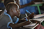 A girl student at the John Paul II School in Wau, South Sudan.
