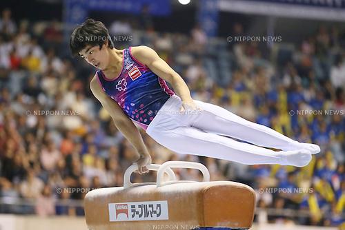 Kenzo Shirai, <br /> MAY 17, 2015 - Artistic Gymnastics : <br /> The 54th NHK Cup <br /> Men's Individual All-Around <br /> Pommel Horse <br /> at Yoyogi 1st Gymnasium, Tokyo, Japan. <br /> (Photo by YUTAKA/AFLO SPORT)