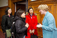 Anne Mulcahy, then CEO and former Chairman, Xerox Corporation, speaking with Graduate Students at the Yale School of Management Leaders Forum February 1, 2005