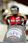 18 November 2005: Cathleen Martini pilots Germany 3 to a 14th place finish at the 2005 FIBT AIT World Cup Women's Bobsleigh Tour at the Verizon Sports Complex, in Lake Placid, NY. Mandatory Photo Credit: Ed Wolfstein.