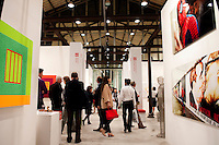 Visitors to an exhibition at the Macro contemporary Art Centre, Testaccio district, Rome, Italy