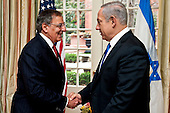 United States Secretary of Defense Leon E. Panetta greets Prime Minister Benjamin Netanyahu of Israel prior to a meeting at Blair House, Washington, D.C., Tuesday, March 5, 2012. .Mandatory Credit: Chad J. McNeeley / DoD via CNP
