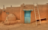 Taos Pueblo door &amp;  ladder - New Mexico