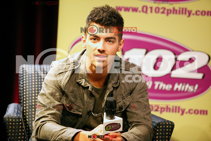 Joe Jonas pictured at a Q & A at Q102 in Bala Cynwyd, Pa on July 14, 2011  © Star Shooter / MediaPunchInc