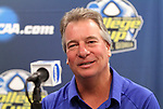 03 December 2011: Duke head coach Robbie Church. The Duke University Blue Devils held a press conference at KSU Soccer Stadium in Kennesaw, Georgia the day before playing Stanford in the NCAA Division I Women's Soccer College Cup championship game.