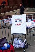 Outside Donald Trump rally in Milwaukee, Wisconsin