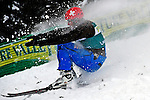 16 January 2009: Christian Haechler from Switzerland lands his jump in aerial acrobatics during the FIS Freestyle World Cup warm-ups at the Olympic Ski Jumping Facility in Lake Placid, NY, USA. Mandatory Photo Credit: Ed Wolfstein Photo. Contact: Ed Wolfstein, Burlington, Vermont, USA. Telephone 802-864-8334. e-mail: ed@wolfstein.net