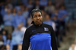 02 March 2014: Duke's Elizabeth Williams. The University of North Carolina Tar Heels played the Duke University Blue Devils in an NCAA Division I women's basketball game at Carmichael Arena in Chapel Hill, North Carolina. UNC won the game 64-60.