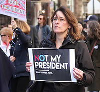 NEW YORK, NY - FEBRUARY 20:  Participants in the 'Not My President's Day' protest  against the policies and person of U.S. President Donald J. Trump in New York, New York on February 20, 2017.  Photo Credit: Rainmaker Photo/MediaPunch