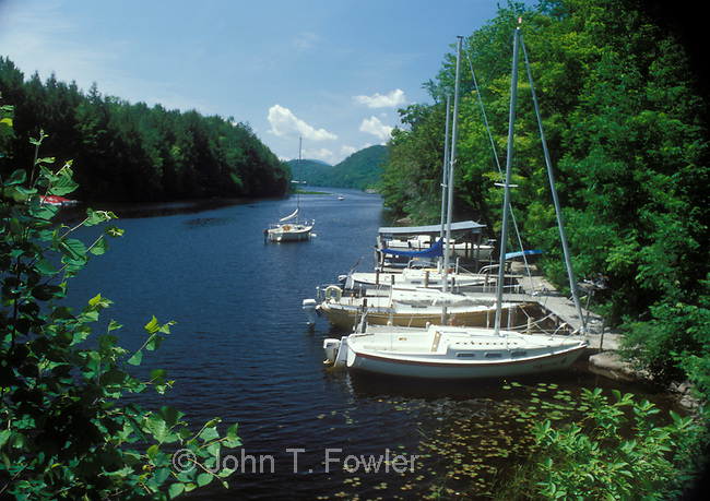 Sailboat Marina at Fitch Bay, Georgeville, Lake Memphramagog, Quebec, Canada